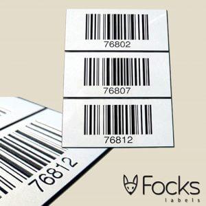 Barcode en QR code labels - Resopal
