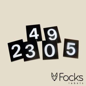 Vinylstickers met oplopende nummering
