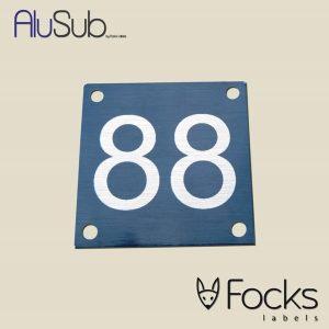 Nummerplaat AluSub aluminium, bedrukking slijtvast in topcoating