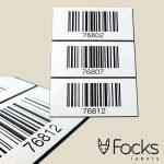 Barcode Resopal gegraveerd, oplopende barcodes, gesorteerd op volgorde geleverd