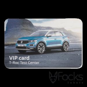 VIP card geanodiseerd aluminium, slijtvaste full colour bedrukking