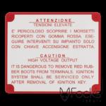 Waarschuwingsplaatje voor autorestauratiebedrijf, geanodiseerd aluminium, slijtvaste bedrukking in 1 kleur, met boorgaatjes.