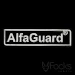 Naamlabel Alfaguard 3D metaal, voor op beveiligingsapparatuur