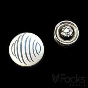 Revers pin glanzend gepolijst RVS geëtst met magneetsluiting