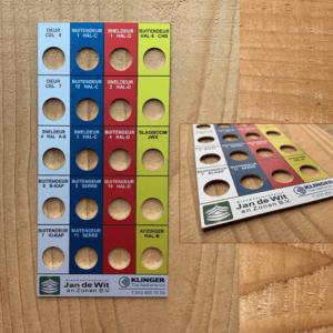 Frontpaneel voor machine in meerdere kleuren