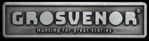Grosvenor merklabel, gegoten zinklegering