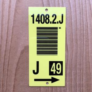 Aluminium barcodelabels met wisselende gegevens